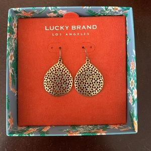 Lucky brand🍀 gold earrings